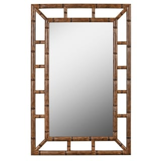 "Kenroy Home 60226  Aviary 26"" x 40"" Rectangular Plastic Framed Mirror - Bronze"