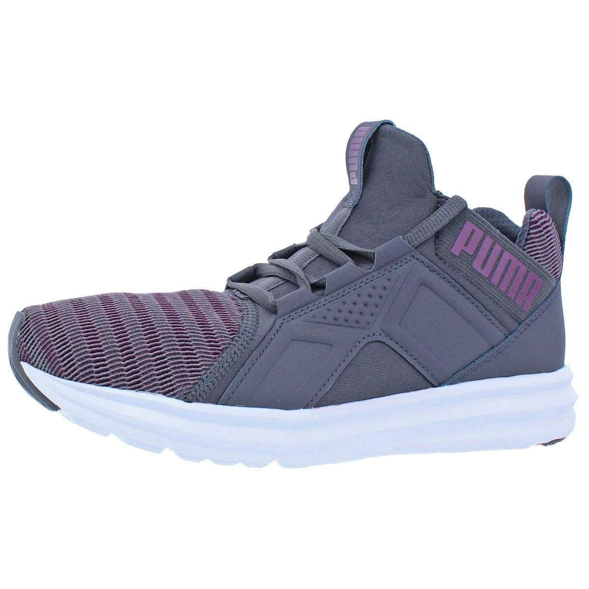 Shop Puma Womens Enzo High Top Sneakers Soft Foam Trainer