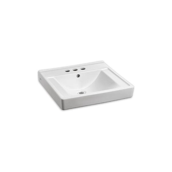 """American Standard 9024.004EC Decorum 20"""" Wall Mounted Bathroom Sink with EverClean Surface and Rear Overflow - White"""