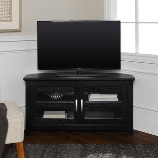 Link to Copper Grove Bow Valley 44-inch Black Corner TV Stand Similar Items in TV Stands & Entertainment Centers
