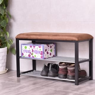 Storage Bench With Shelf At Overstock