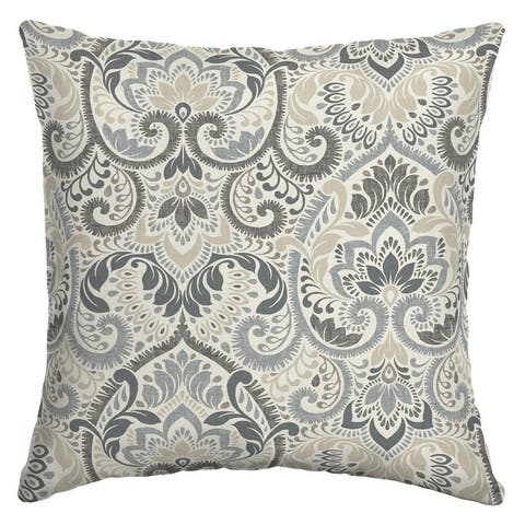 Arden Selections Aurora Damask Outdoor 16 x 16 in. Square Pillow