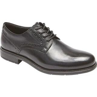 Rockport Men's Total Motion Plain Toe Oxford Black Leather