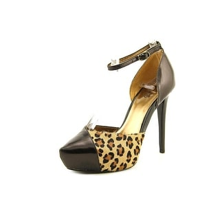 Carlos by Carlos Santana Capelli Open Toe Leather Platform Heel