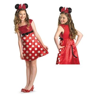 Red Minnie Mouse Tween Halloween Disney Costume