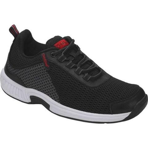 Orthofeet Men's Edgewater Sneaker Black/Grey Synthetic