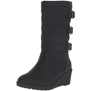 Rachel Shoes Girls Lil Northwest Wedge Boots Buckle Faux Leather