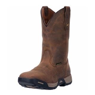 Dan Post Work Boots Mens Hudson Waterproof ST Leather Brown DP69862