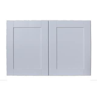 """Sunny Wood SHW3624-A  Shaker Hill 36"""" x 24"""" Double Door Wall Cabinet - Designer White"""