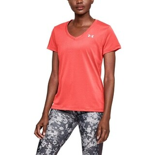 Under Armour Women's Tech Twist Deep V-Neck T-Shirt, After Burn (877), S