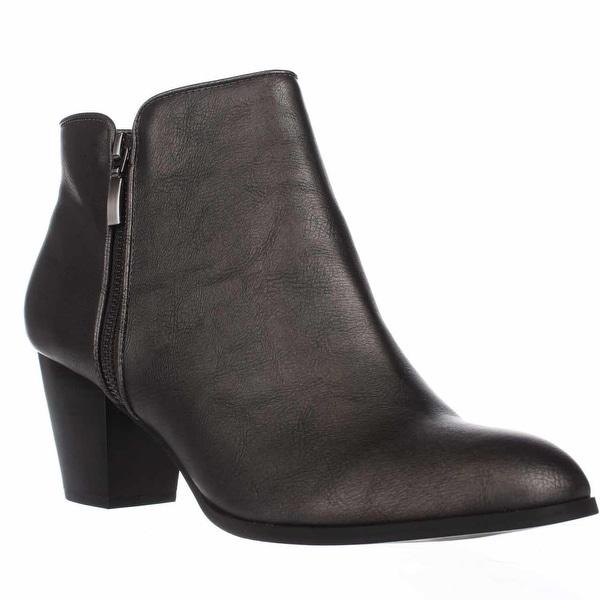 SC35 Jamila Dress Ankle Booties, Pewter