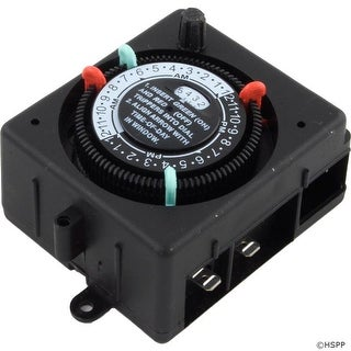 Timer, Intermatic, SPST, Panel Mount, 115v, 24hr, w/Override