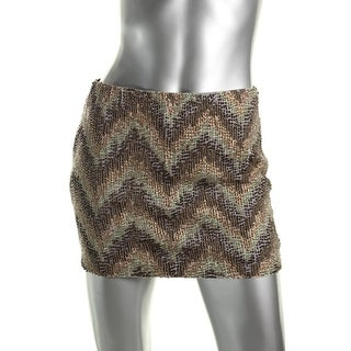 Zara Trafaluc Womens Beaded Mini Pencil Skirt - XS