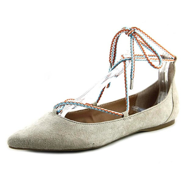 52ab04102976 Shop Steve Madden Emilie Women Pointed Toe Suede Nude Flats - Free ...