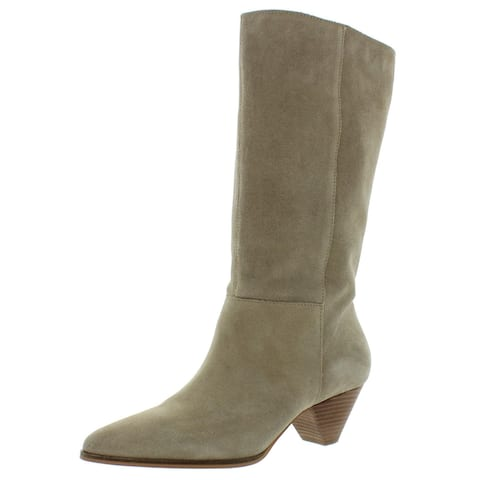 Lucky Brand Womens Fukko Mid-Calf Boots Suede Pointed Toe - Dune