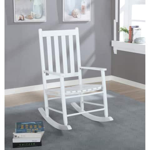 Evenly Slat Back Wooden Rocking Chair
