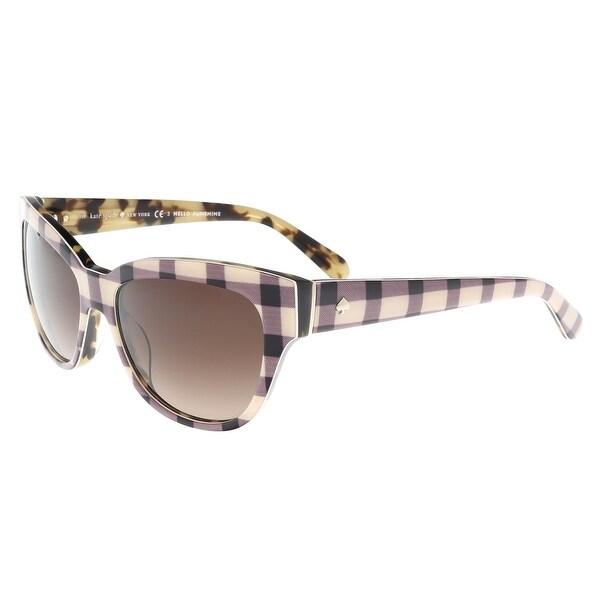 96bf21c6b34 Shop Kate Spade - Aisha S 006G Pink Pattern Cateye Sunglasses - 54 ...