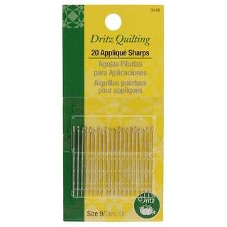 Dritz Quilting Applique Sharps Needles-Size 9 20/Pkg