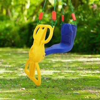 Costway Rider Swing with Hangers Glider Swing Seat Kids Children Playground Backyard