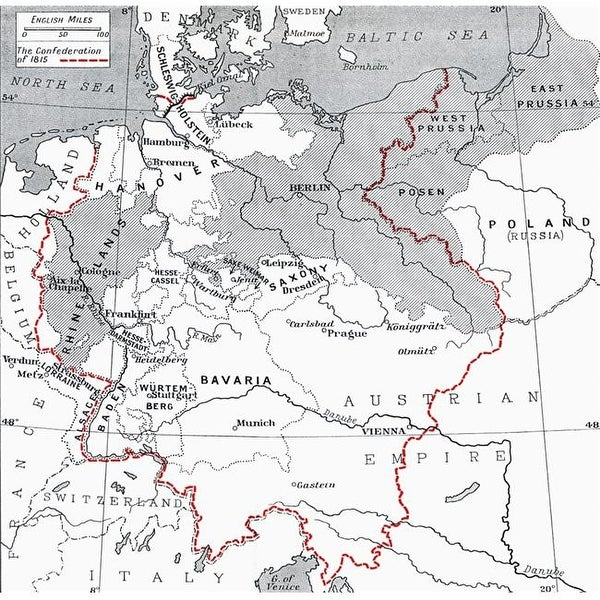 Map Of Germany 1815.Shop Map Of Germany In 1815 From The Book Europe In The Nineteenth