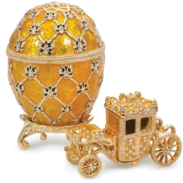 Imperial Coronation Faberge Egg Jewelry Box W Carriage In Medium Overstock 32250615