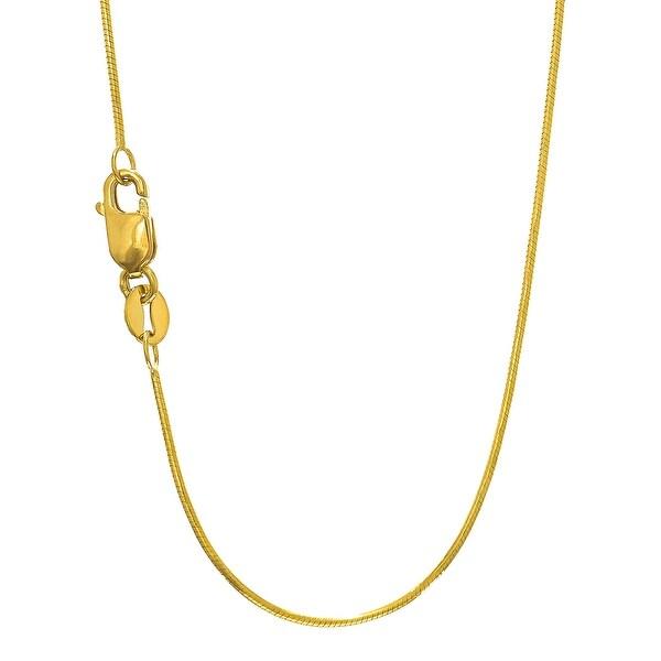 Mcs Jewelry Inc 14 KARAT YELLOW GOLD ROUND SNAKE CHAIN NECKLACE (0.9MM)