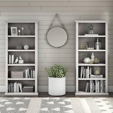 "Copper Grove Samtredia Bookcases (Set of 2) - 30.00""L x 13.00""W x 66.80""H"