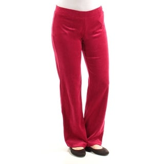Womens Red Casual Lounge Pants Size S