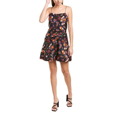 Derek Lam 10 Crosby Cami Flounce Silk-Blend Mini Dress