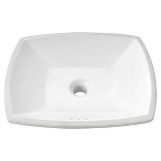 """American Standard 0545.000  Edgemere 18-1/2"""" Undermount Vitreous China Bathroom Sink with Overflow - White"""