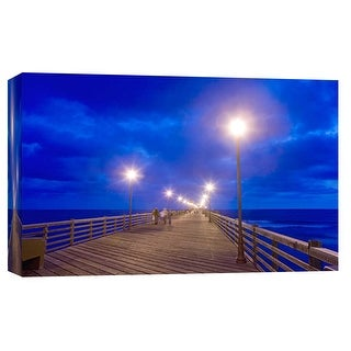 "PTM Images 9-101969  PTM Canvas Collection 8"" x 10"" - ""Night Pier"" Giclee Waves Art Print on Canvas"