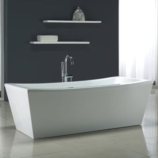 "Miseno MT7035FSR 70-1/16"" Soaking Bathtub for Free Standing Installations with Center Drain - Overflow and Drain Assembly"