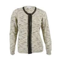 Charter Club Women's Wool Blend Sweater Jacket