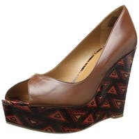 Nine West Women's Audora Leather Wedge Pump - 7