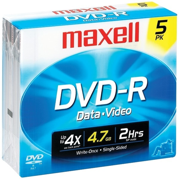 Maxell 635042/635030/638002 4.7Gb 120-Minute Dvd-Rs (5 Pk)