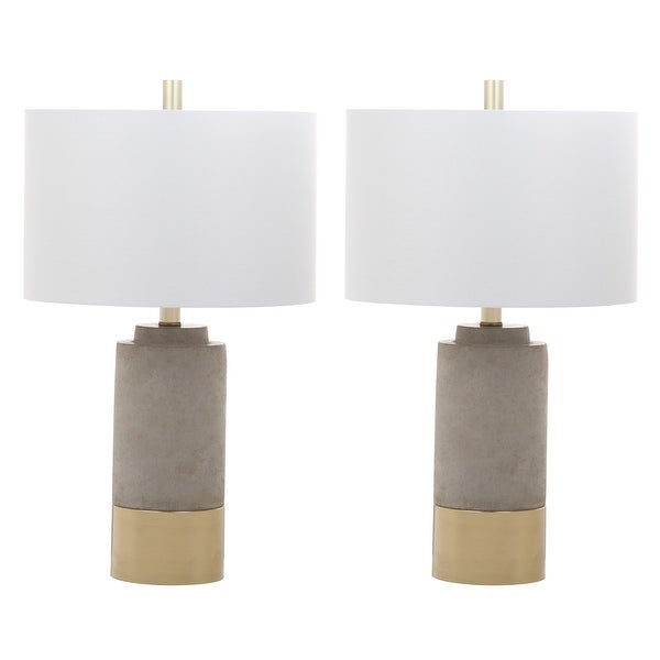 """Safavieh Lighting 24-inch GreyTable Lamps (Set of 2) - 14"""" x 14"""" x 24"""". Opens flyout."""