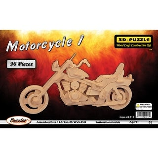 "Jigsaw 3D Puzzle 96 Pieces 11.5""X4.25""X5.25""-Motorcycle"