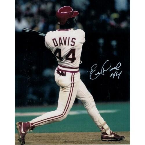 premium selection f5242 4812d Eric Davis Autographed Cincinnati Reds 8x10 Photo