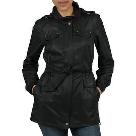 Buffalo Women's Light Weight Windbreaker Belted Detach Hood