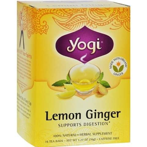 Yogi - Lemon Ginger Tea - Caffeine Free ( 4 - 16 BAG)