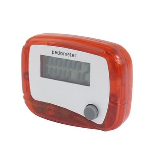 Sport 5 Digits LCD Display Running Digital Step Counter Pedometer Clear Red