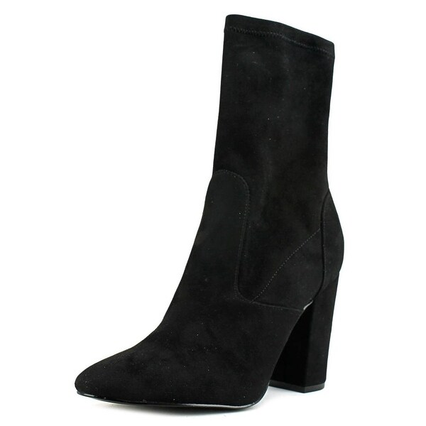 Ivanka Trump Lynna Women Pointed Toe Canvas Black Ankle Boot