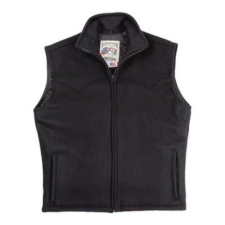 Schaefer Western Vest Mens Arena Melton Wool Heavyweight 730