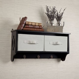 Danya B BQ0213 Espresso Entryway Wall Shelf