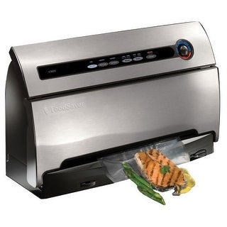 FoodSaver V3835 Vacuum Food Sealer Machine SmartSeal - Grey