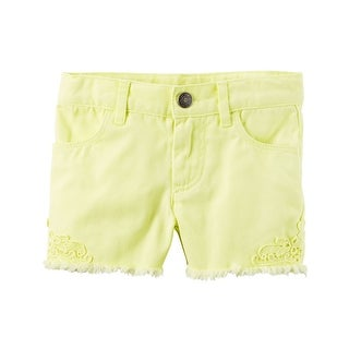 Carter's Little Girls' Lace Twill Shorts, 5-Kids