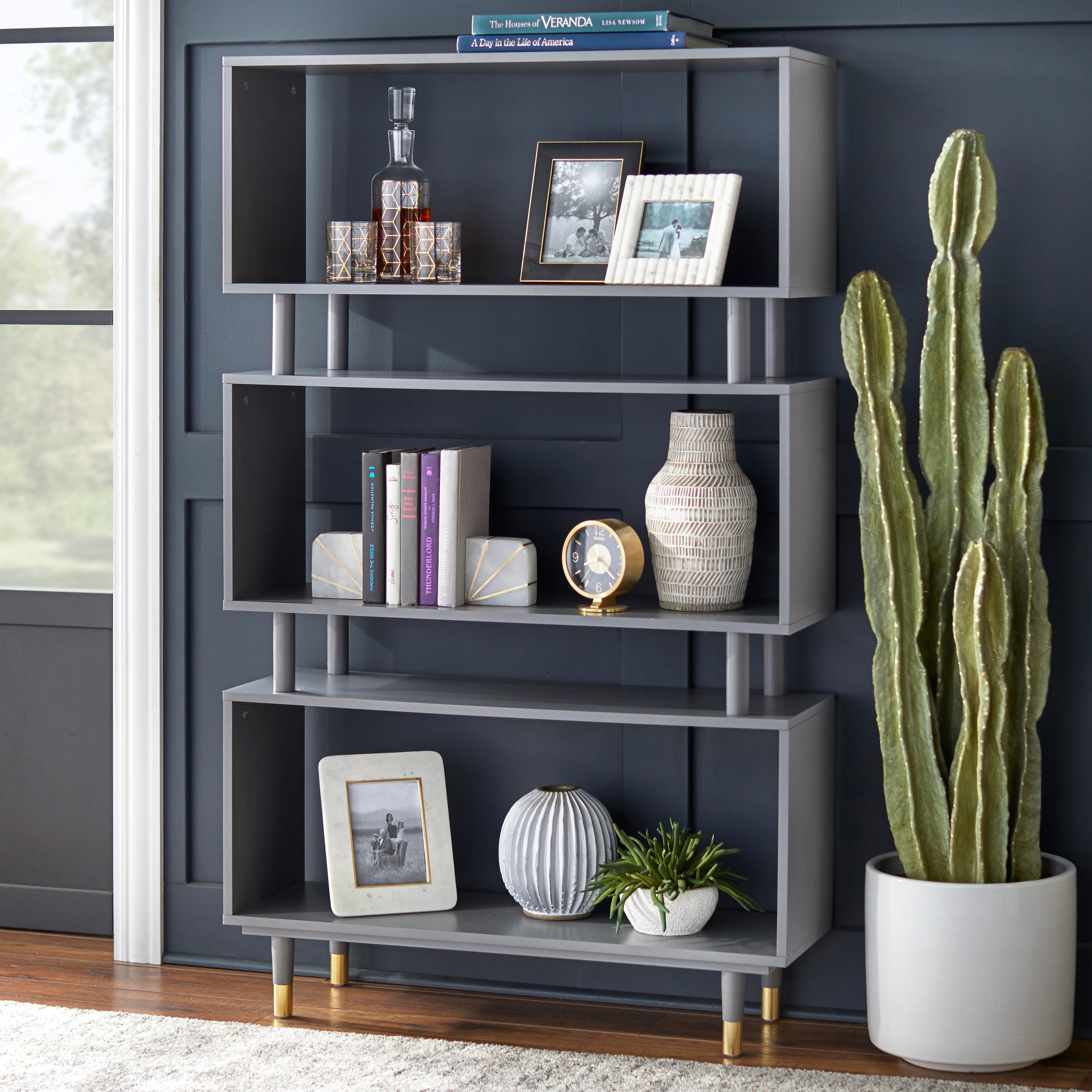 Image of: Shop Black Friday Deals On Simple Living Margo Mid Century 3 Shelf Bookshelf 59 5 H X 36 W X 11 8 D On Sale Overstock 10655448