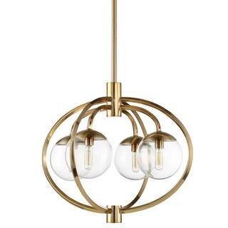 "Craftmade 45524 Piltz 4 Light 22"" Wide Globe Chandelier with Clear Glass Shade"