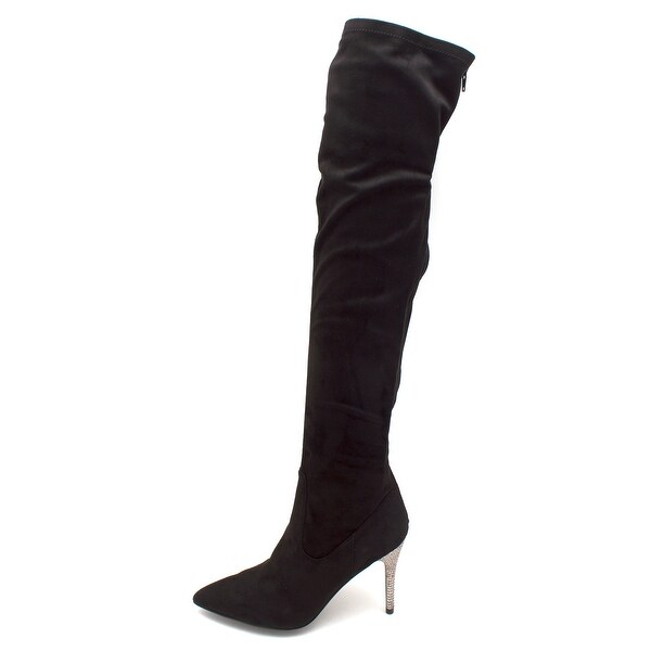 Nina Womens Rocklyn Suede Pointed Toe Knee High Fashion Boots - 9.5