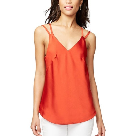 Rachel Rachel Roy Womens Erica Tank Top Satin V-Neck